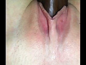 Cheating Wife Jackie Whitney gets messy creampie from bbc while husband is away