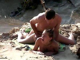 Beach spy cam hardcore action