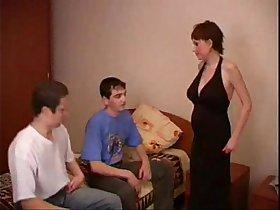 Busty pregnant threesome