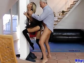 19yo ballerina fucked by older couple
