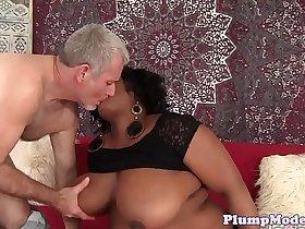 Ebony BBW loves to fuck a hard cock