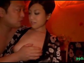 Asian Masseuse Sitting To Guy Face Sucking His Cock Fucked In Doggy On The Mattr