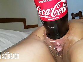 XXXL Anal cola bottle fucking destruction