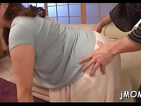 Enchanting older gets on her knees and gives awesome blowjob
