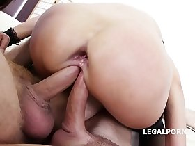 Double Addicted Angie Moon & Dominica Phoenix 5on2 with anal Fisting Orgasms!
