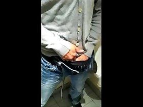 Twink Amateur Markus Warren Jerks Off JAcks Off in Public Toilet